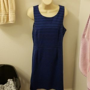 Old Navy blue and black striped dress. Size large